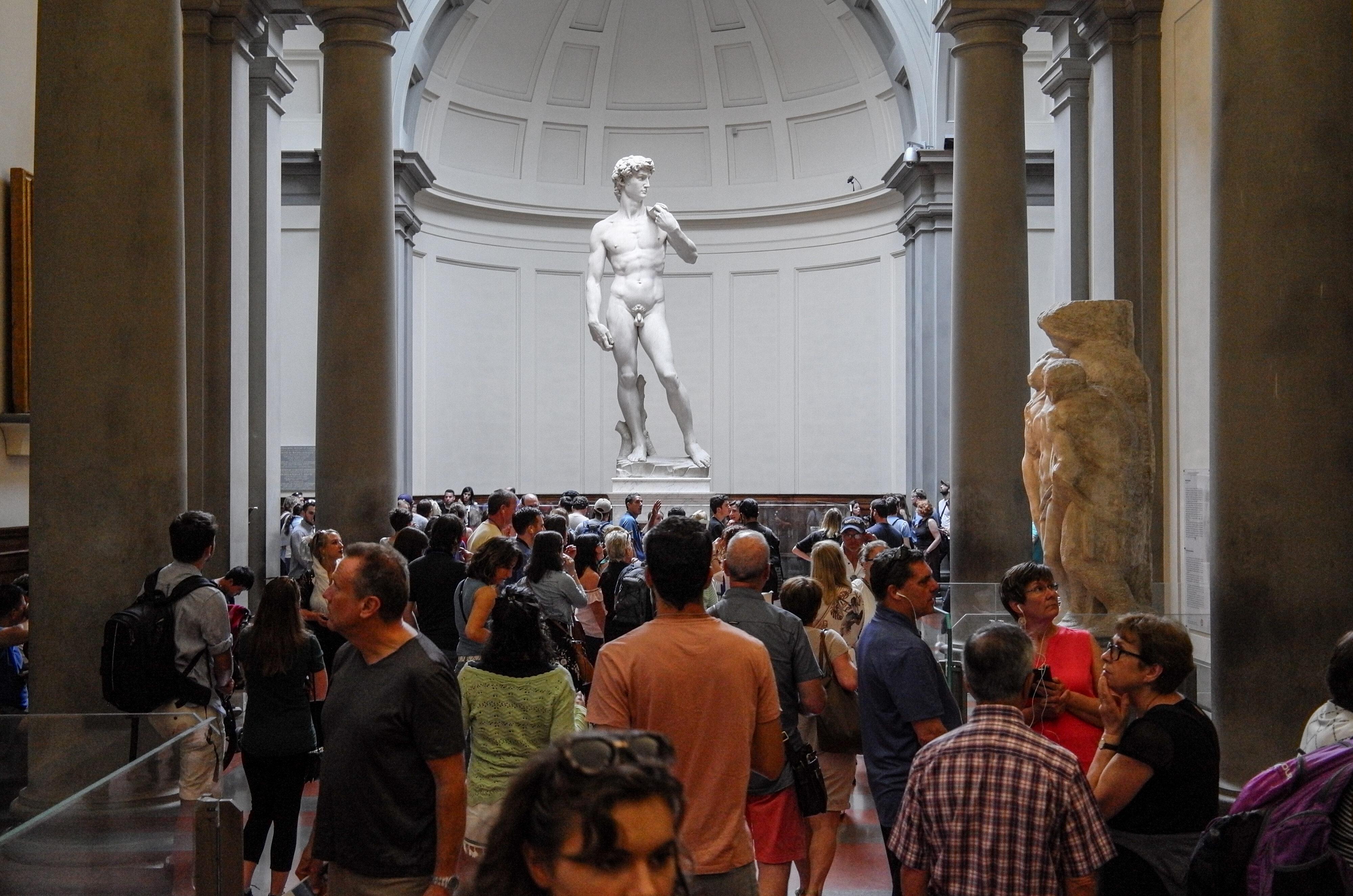 Academia Michelangelos David im Original