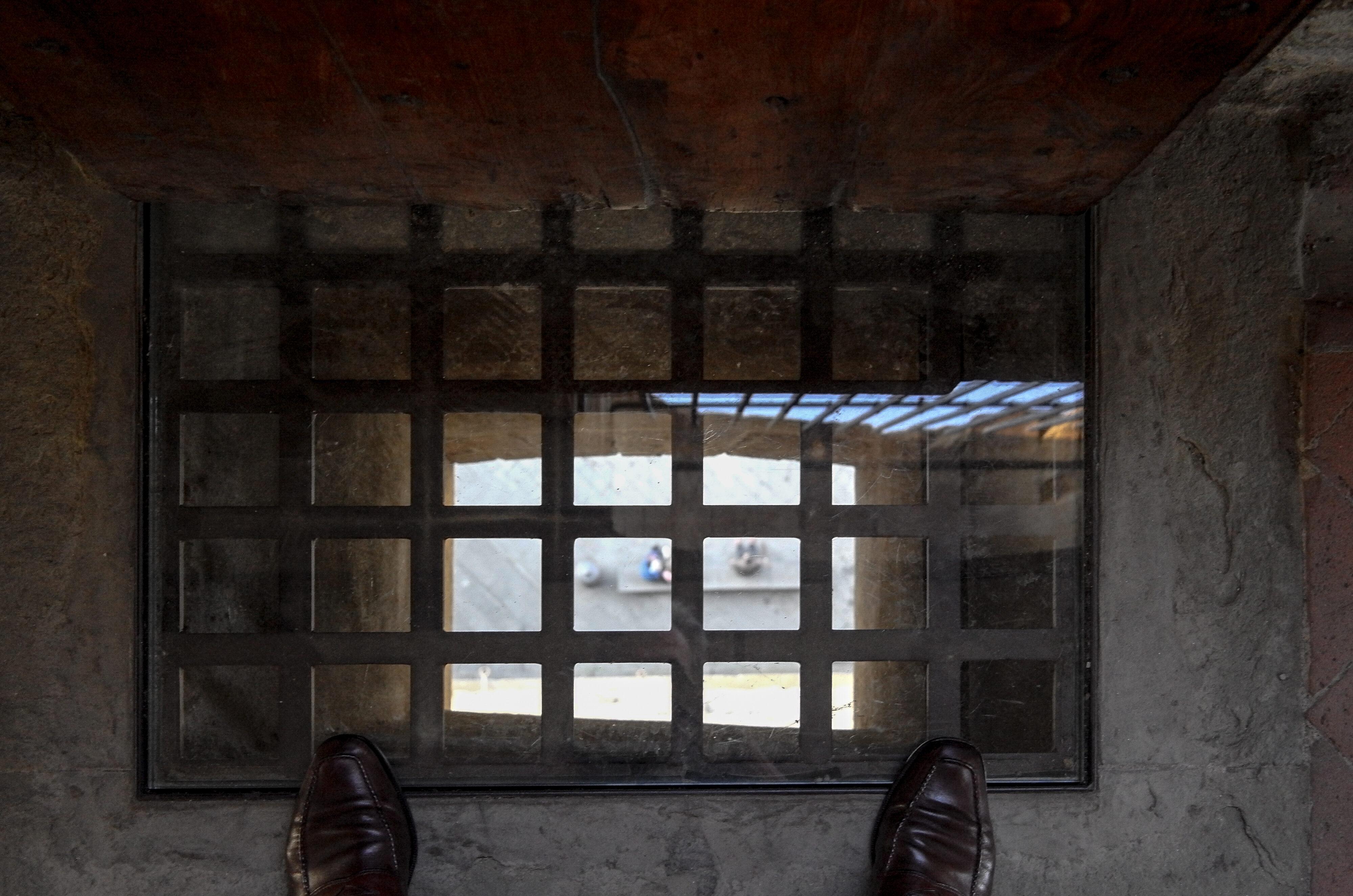 Florenz Palazzo Vecchio Gitterrost zur Abwehr