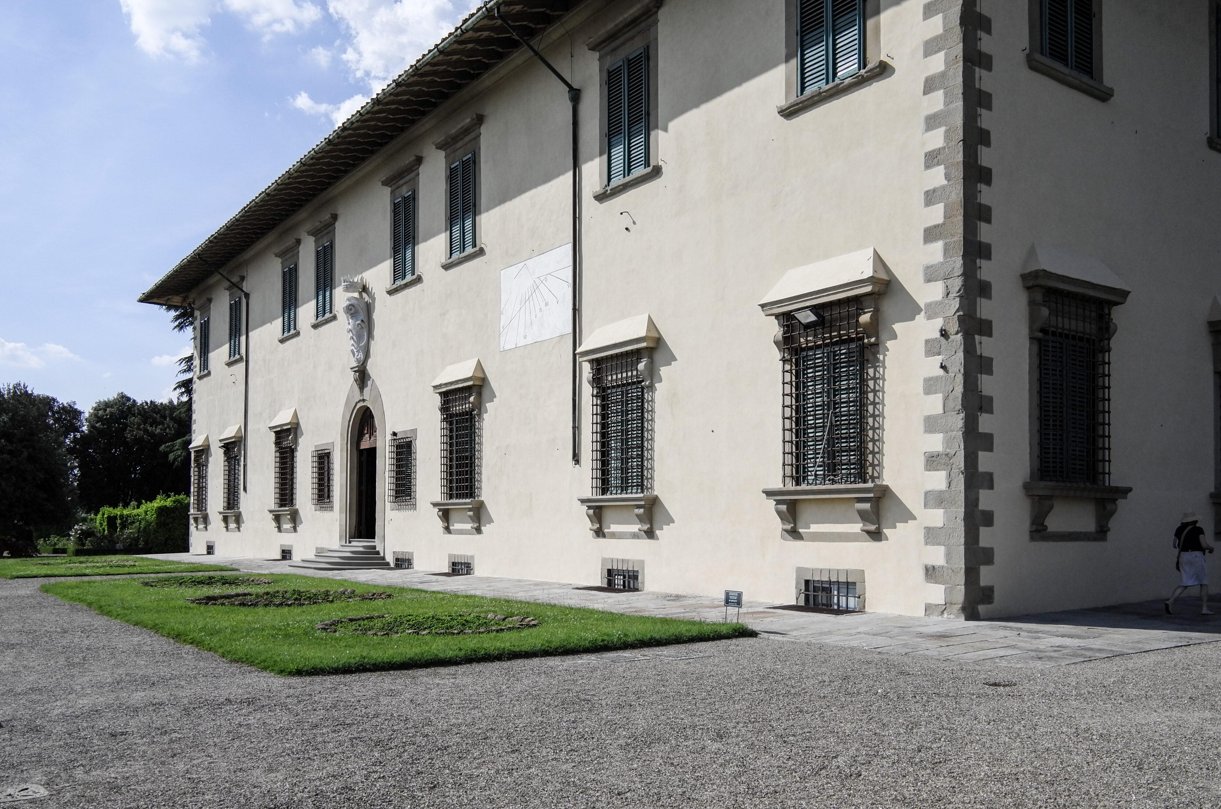 Villa La Petraia Schrägansicht