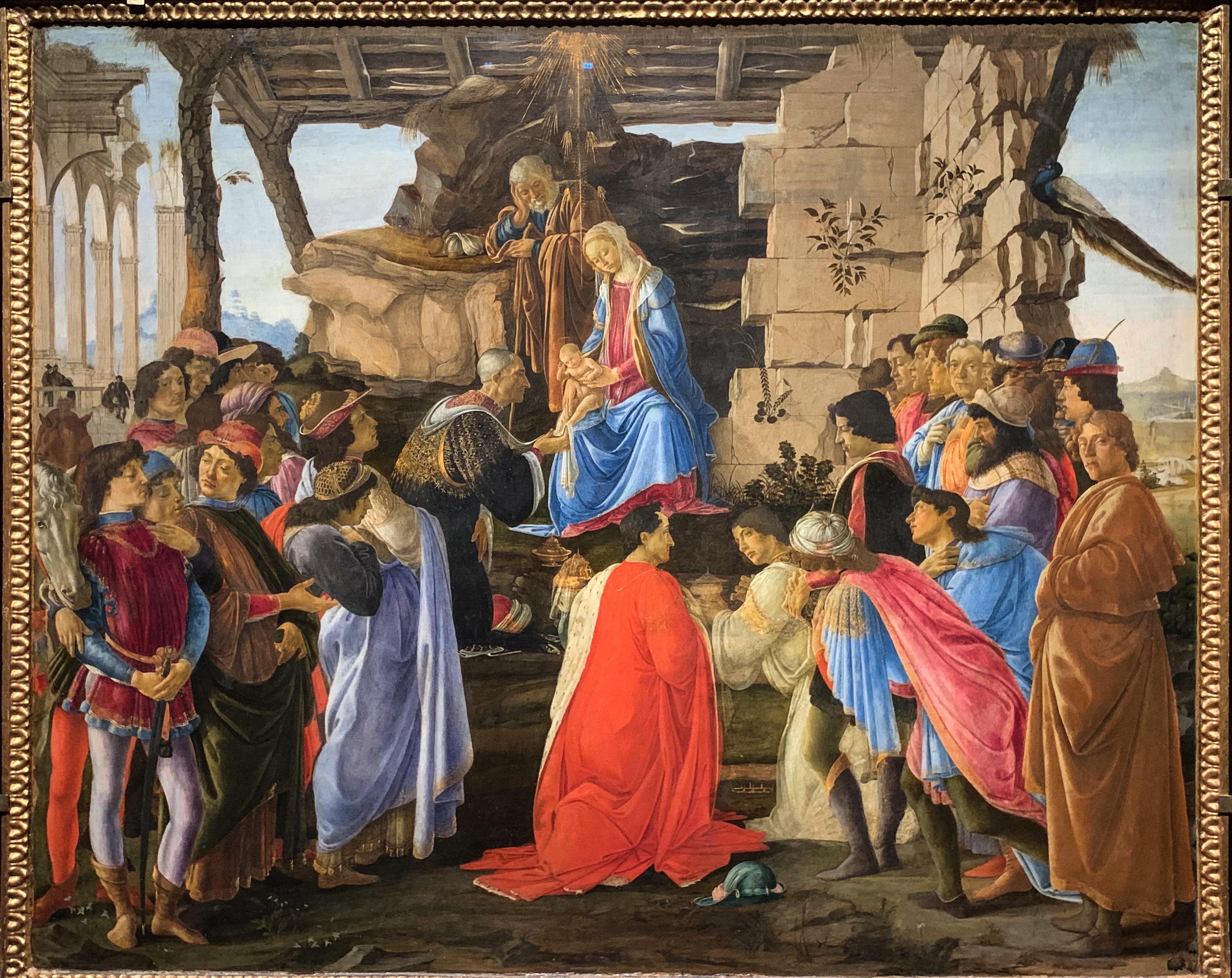 Botticelli, Ghirlandaio, Filippino Lippi Anbetung Uffizien 3