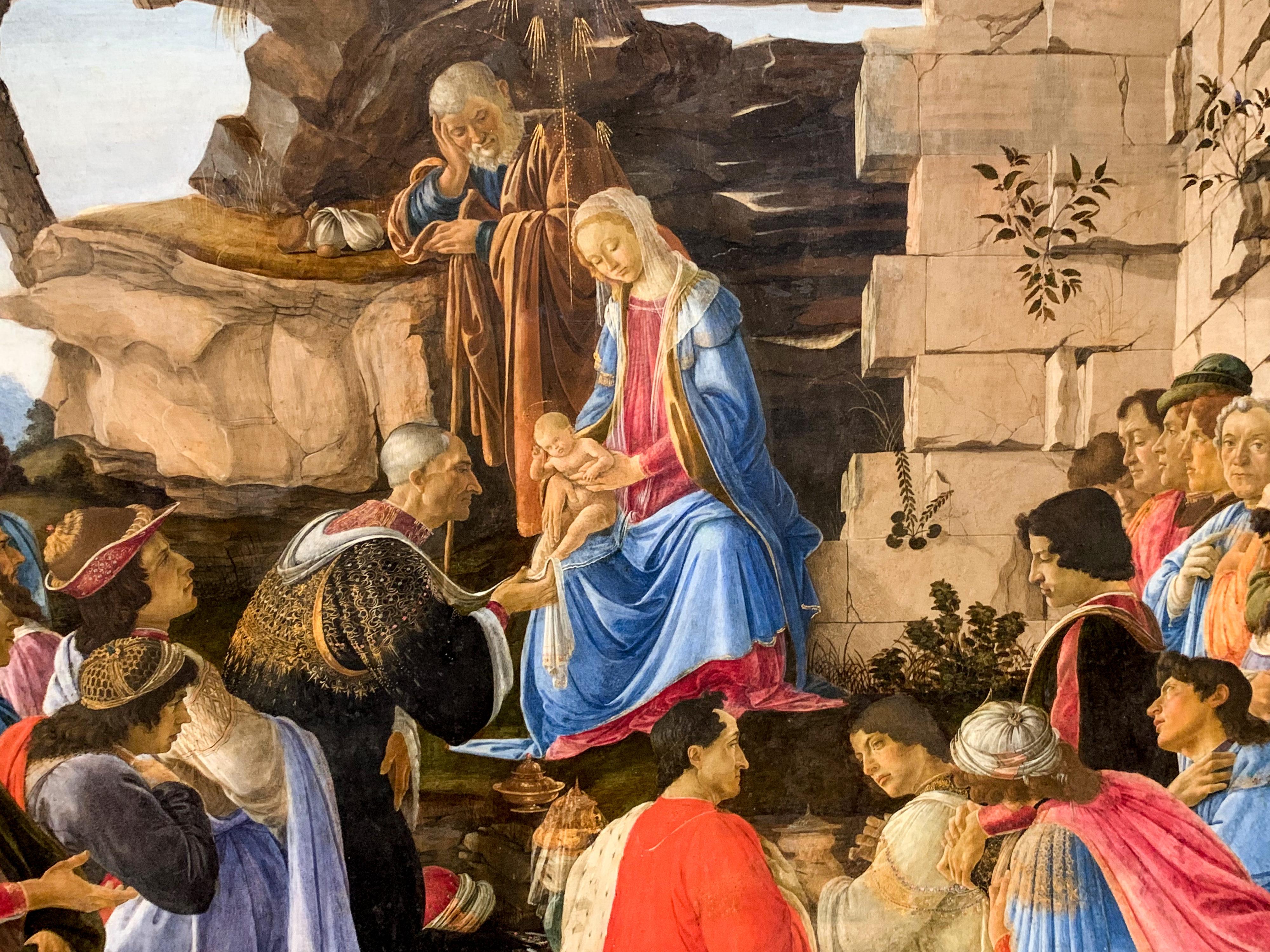 Botticelli, Ghirlandaio, Filippino Lippi Anbetung Uffizien 1
