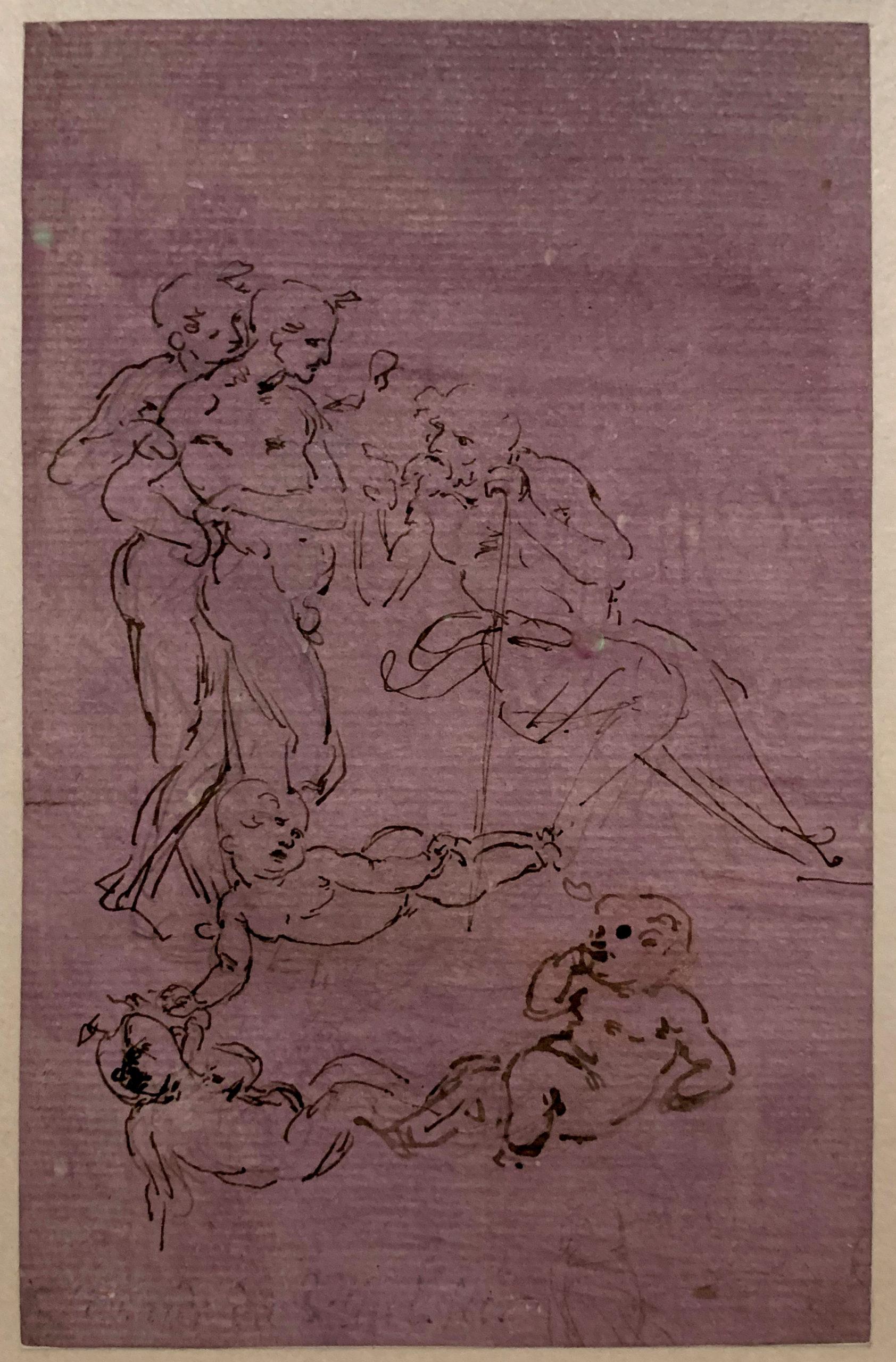 Leonardo Anbetungsskizze Hamburger Kunsthalle