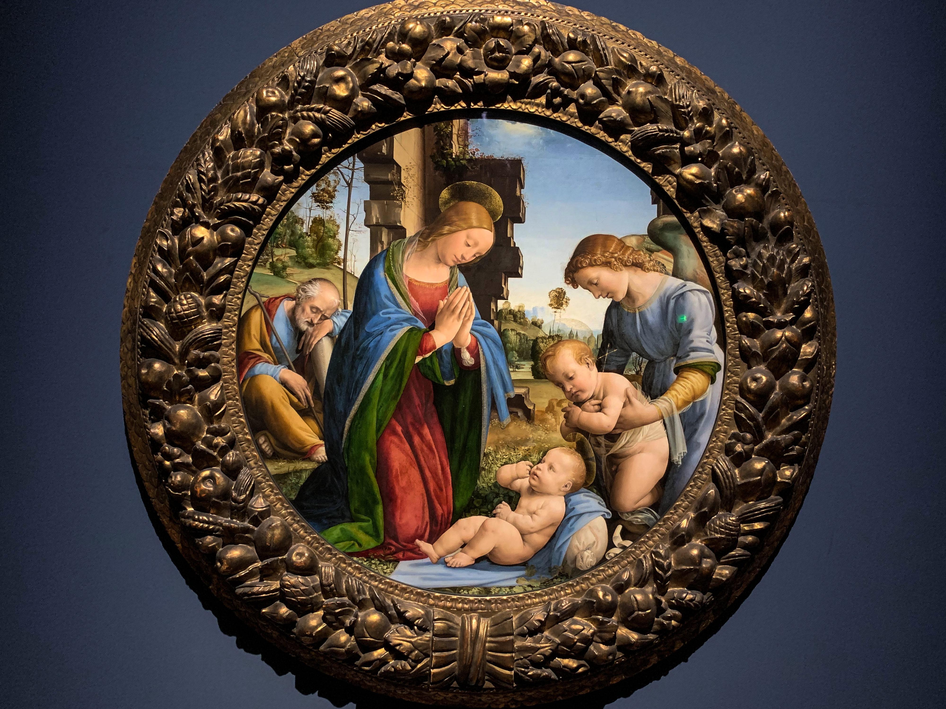 Meisterwerke von Botticelli und Fra Bartolommeo Anbetung Tondo