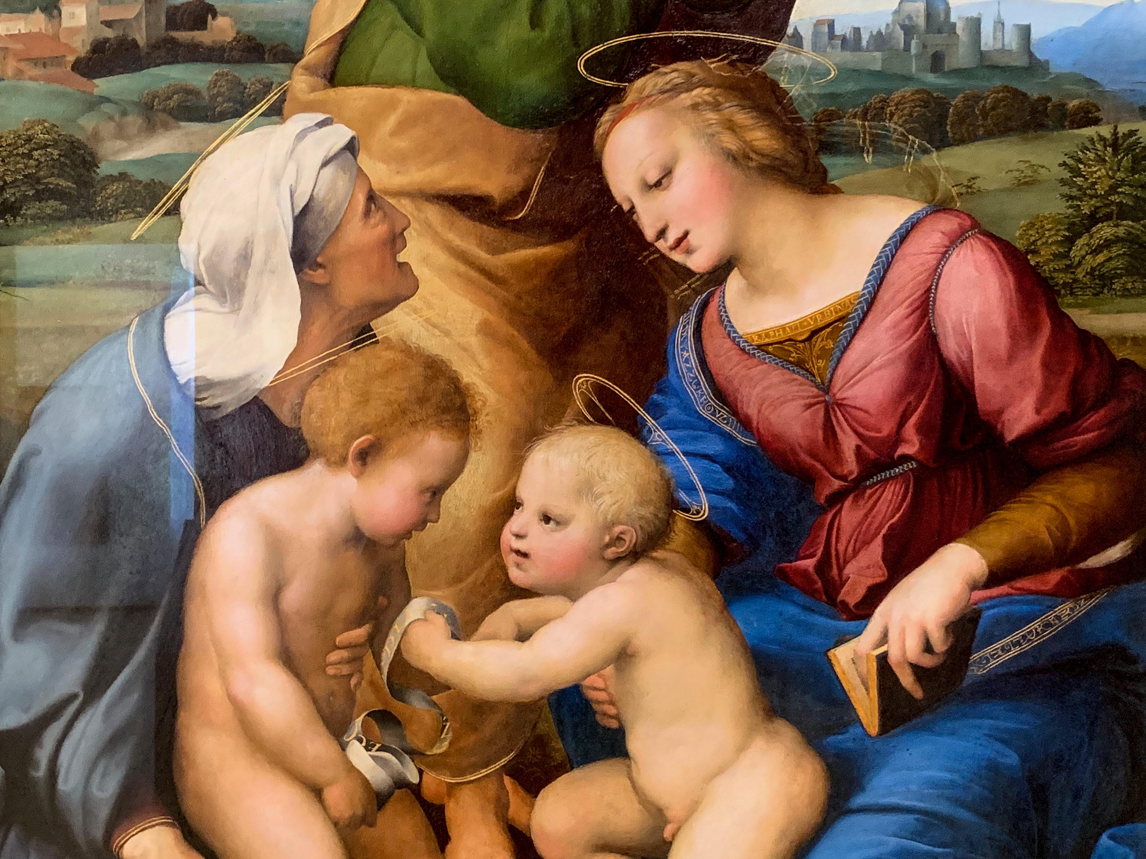 Raffael Hl. Familie Canigiani Detail