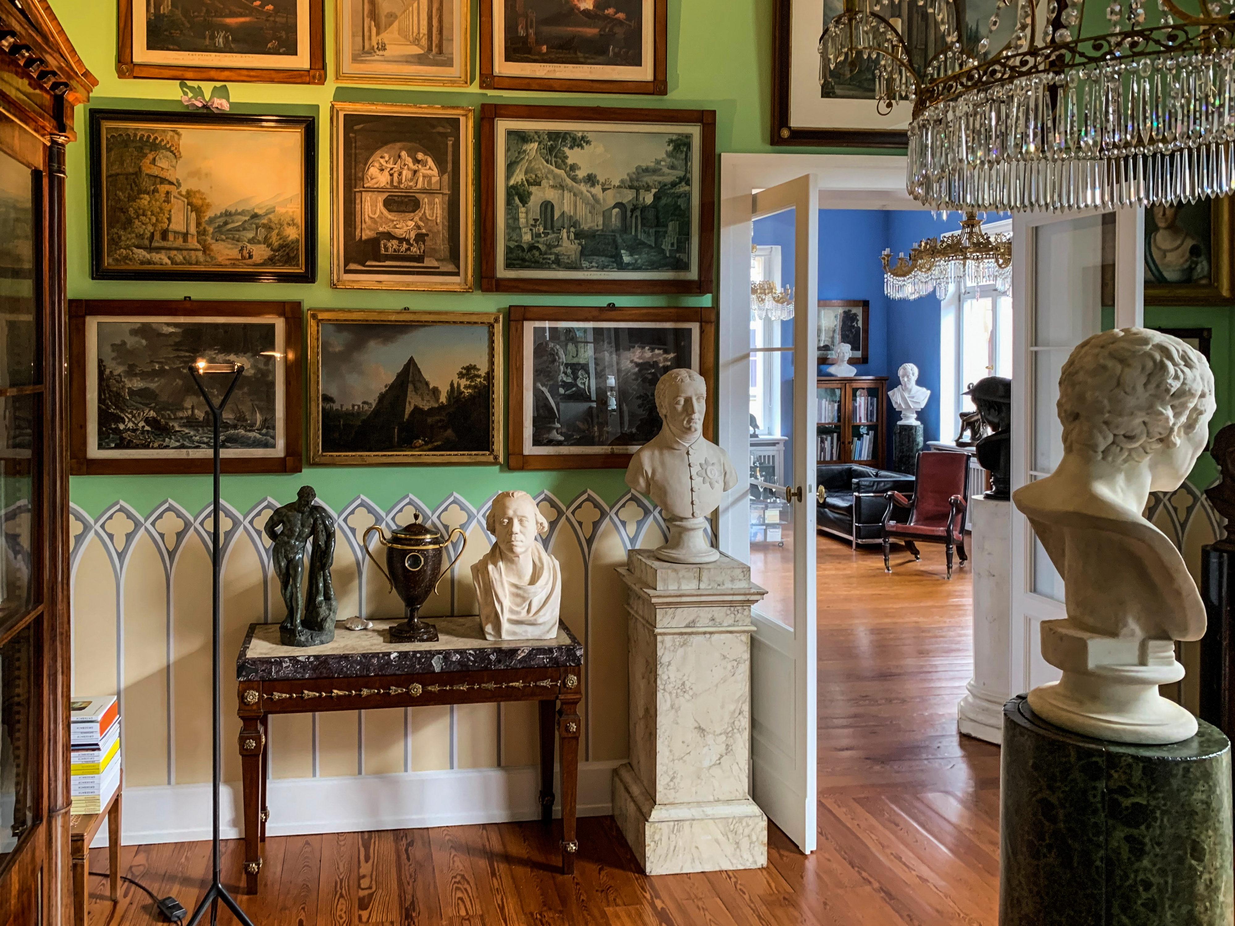 Grünes Zimmer Privatsammlung Kunst um 1800