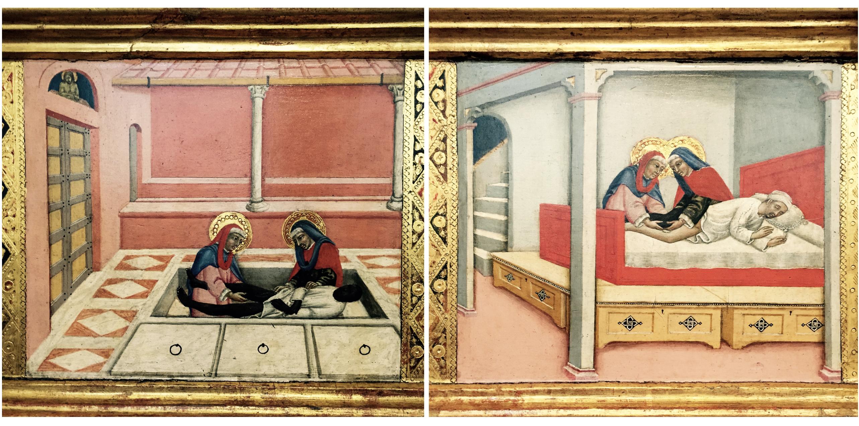 Verkündigung und die Ärzte Cosmas und Damian Sano di Pietro Siena