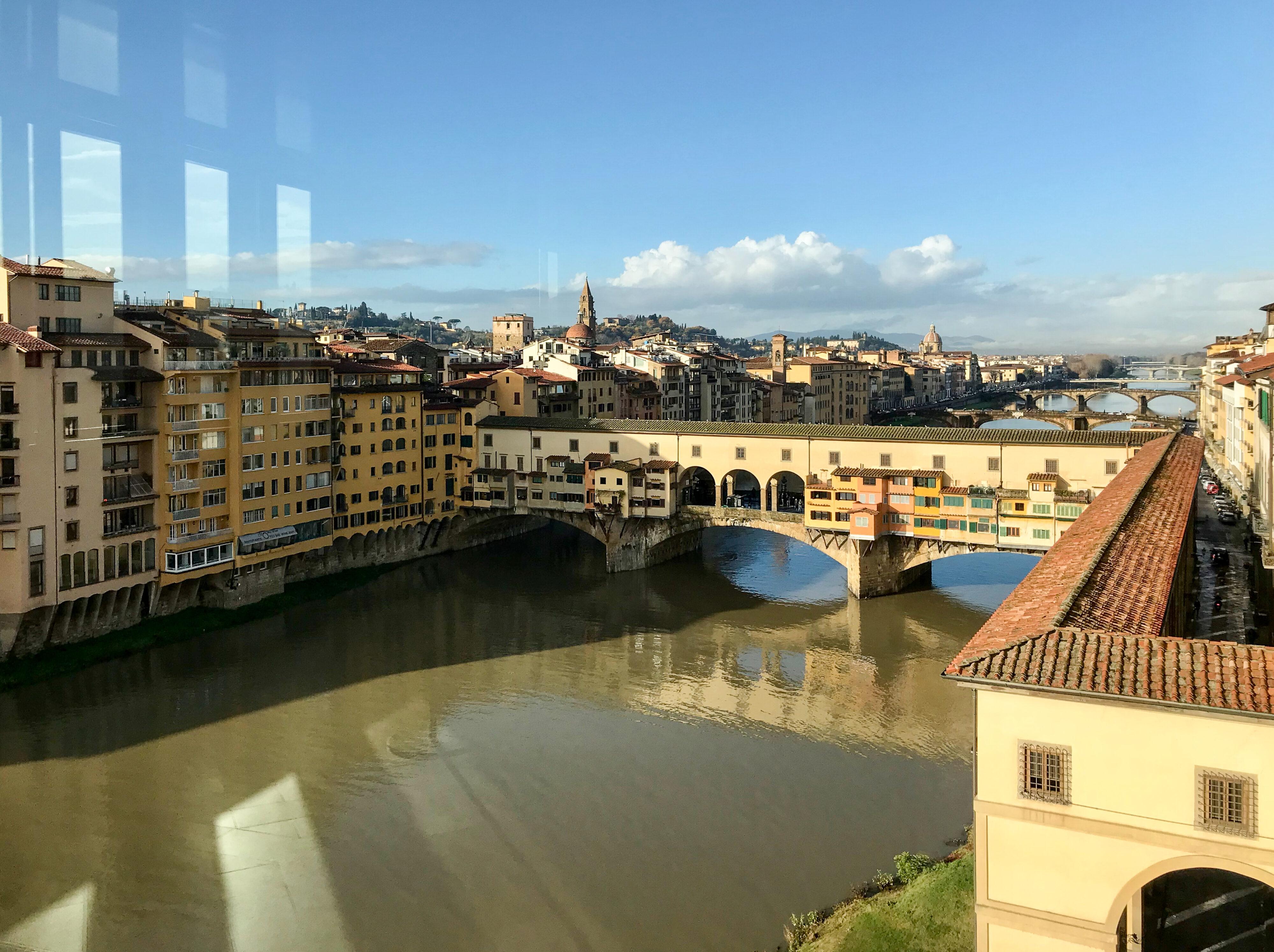 Florenz – Ponte Vecchio mit Fluchtweg