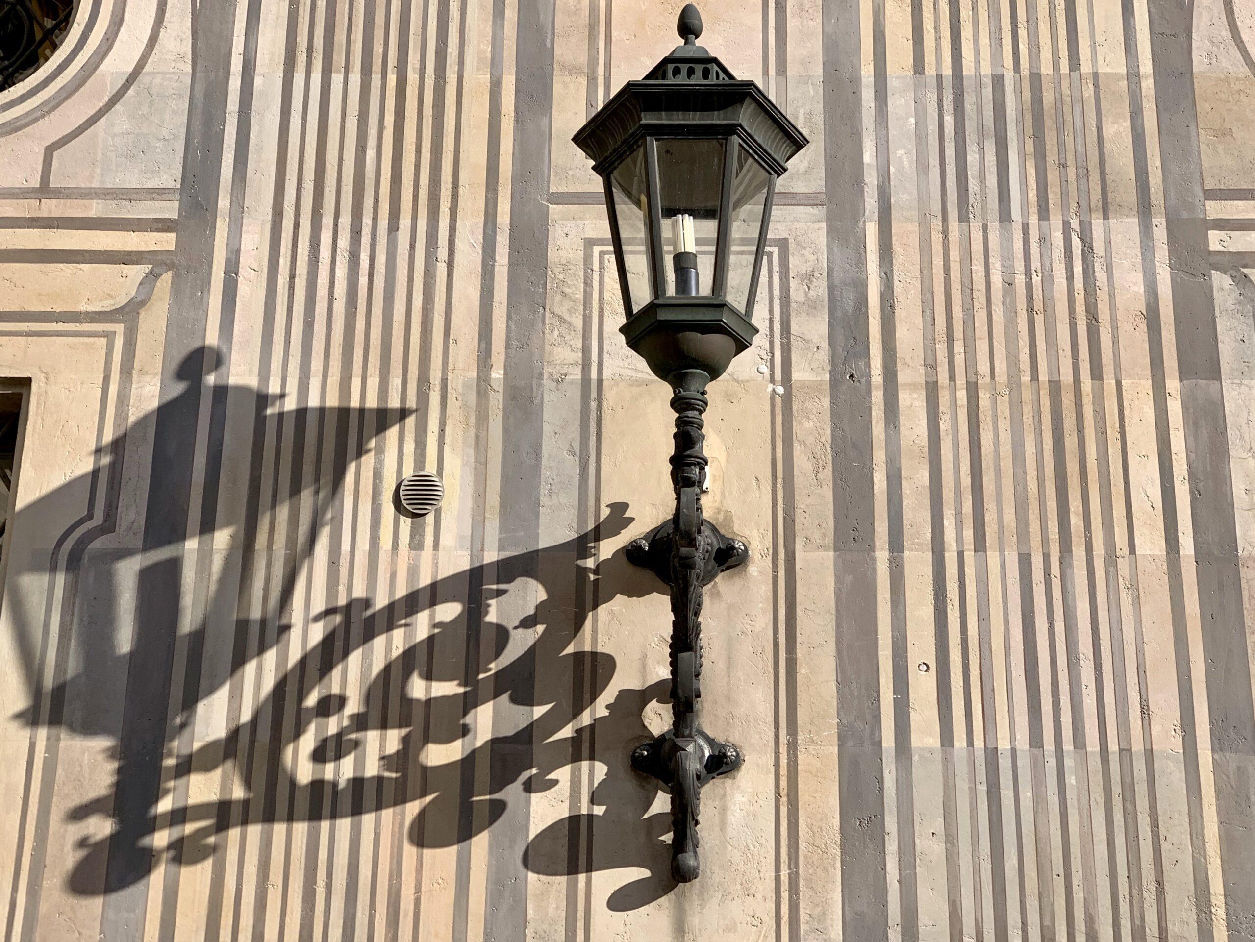 Münchner Impressionen im Oktober 2018 Residenz Wandleuchter