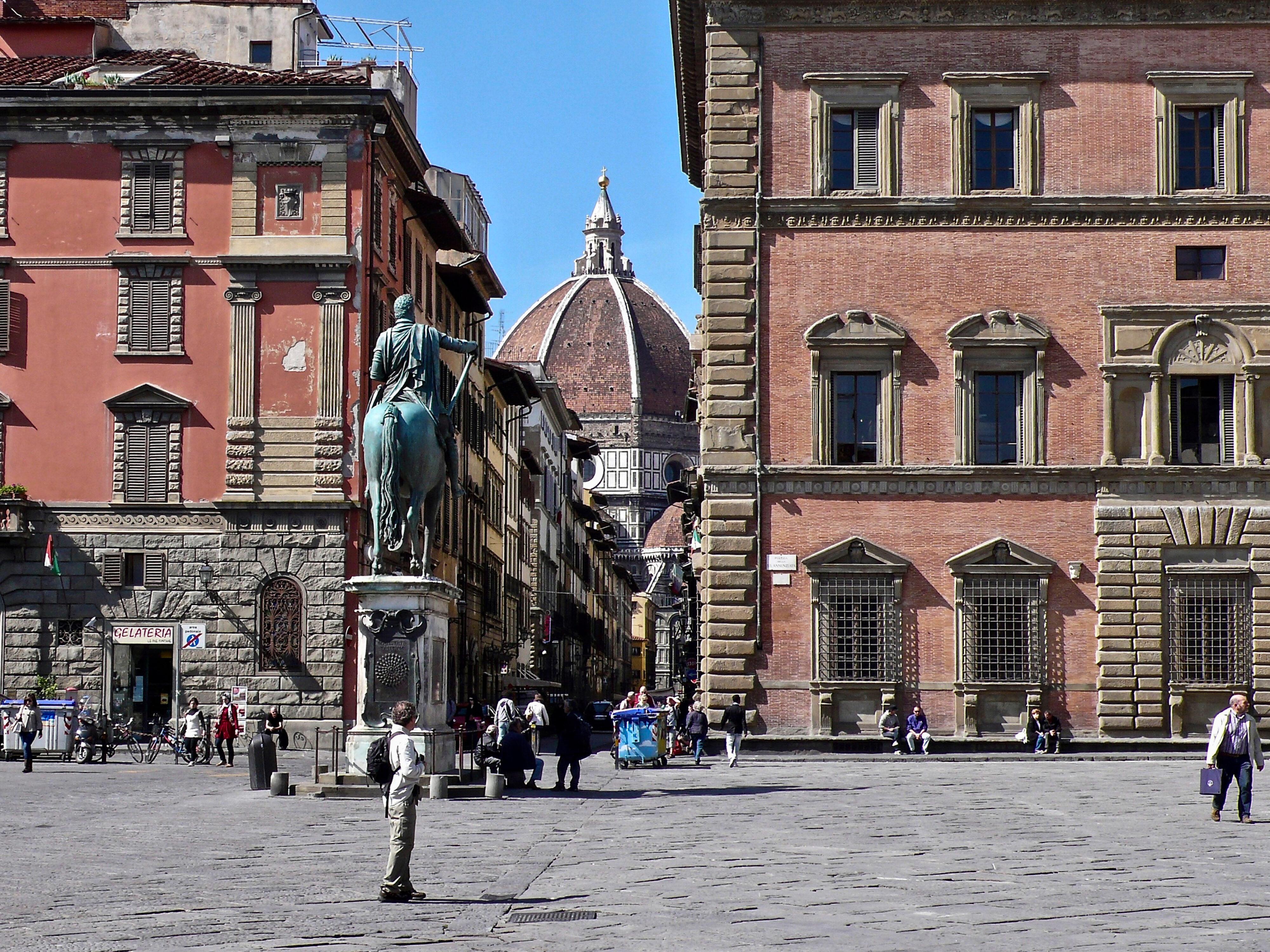 Florenz Domkuppel von Piazza SS. Annunziata
