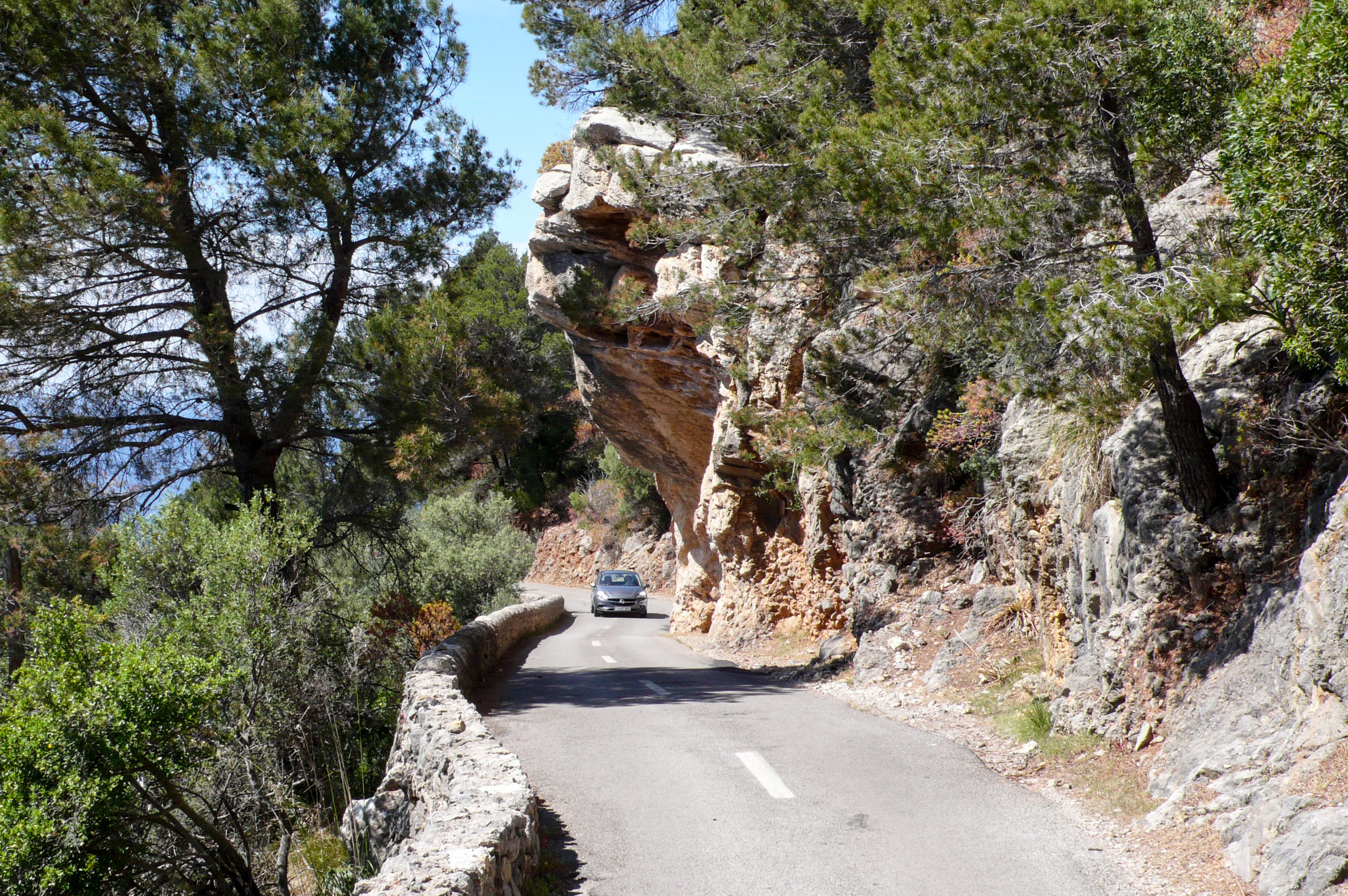 Mallorca Straße nach Port de Valldemossa
