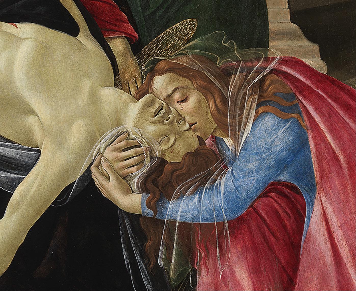 Meisterwerke von Botticelli und Fra Bartolommeo Detail Beweinung