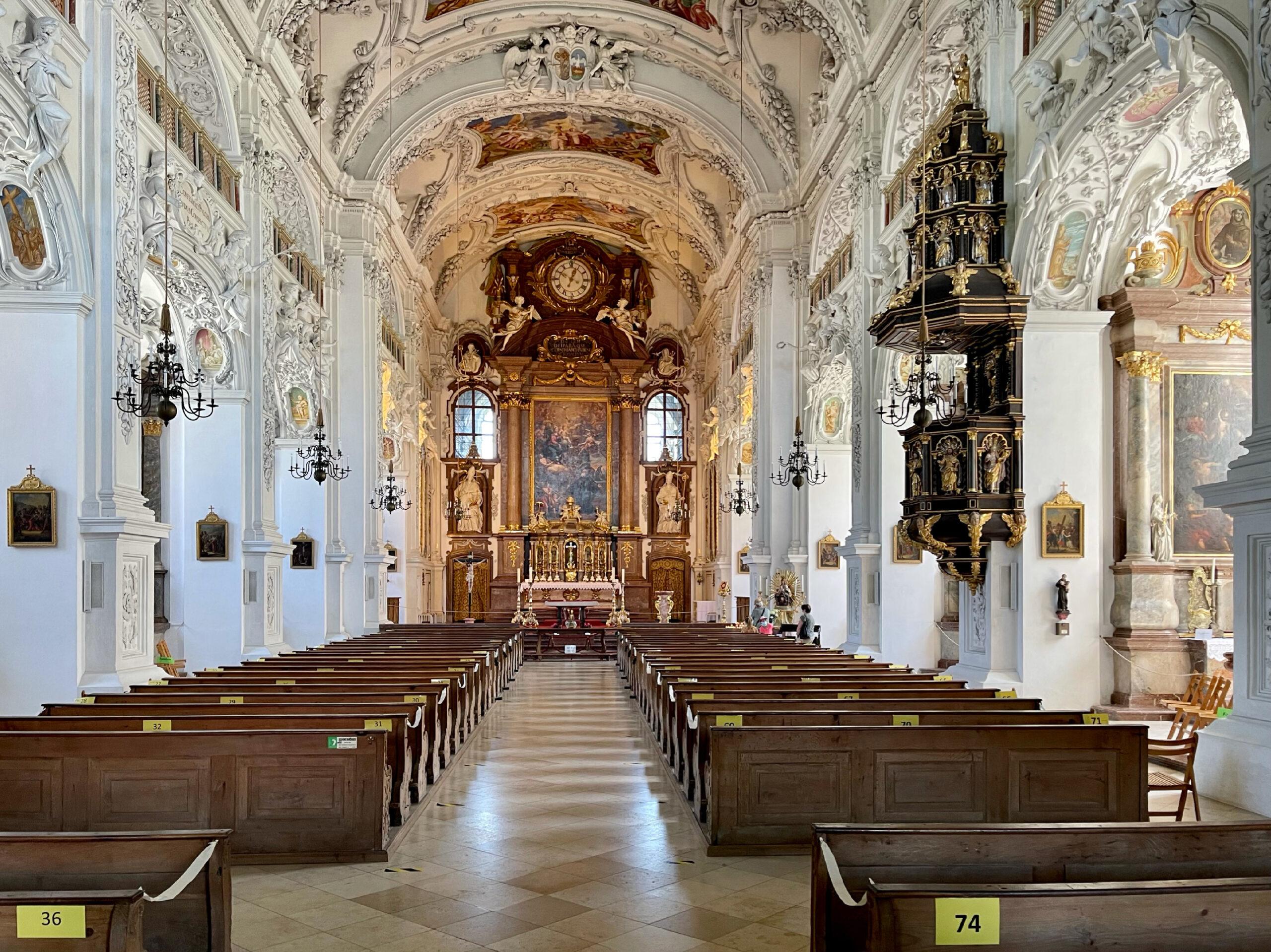 Klosterkirche Benediktbeuren innen