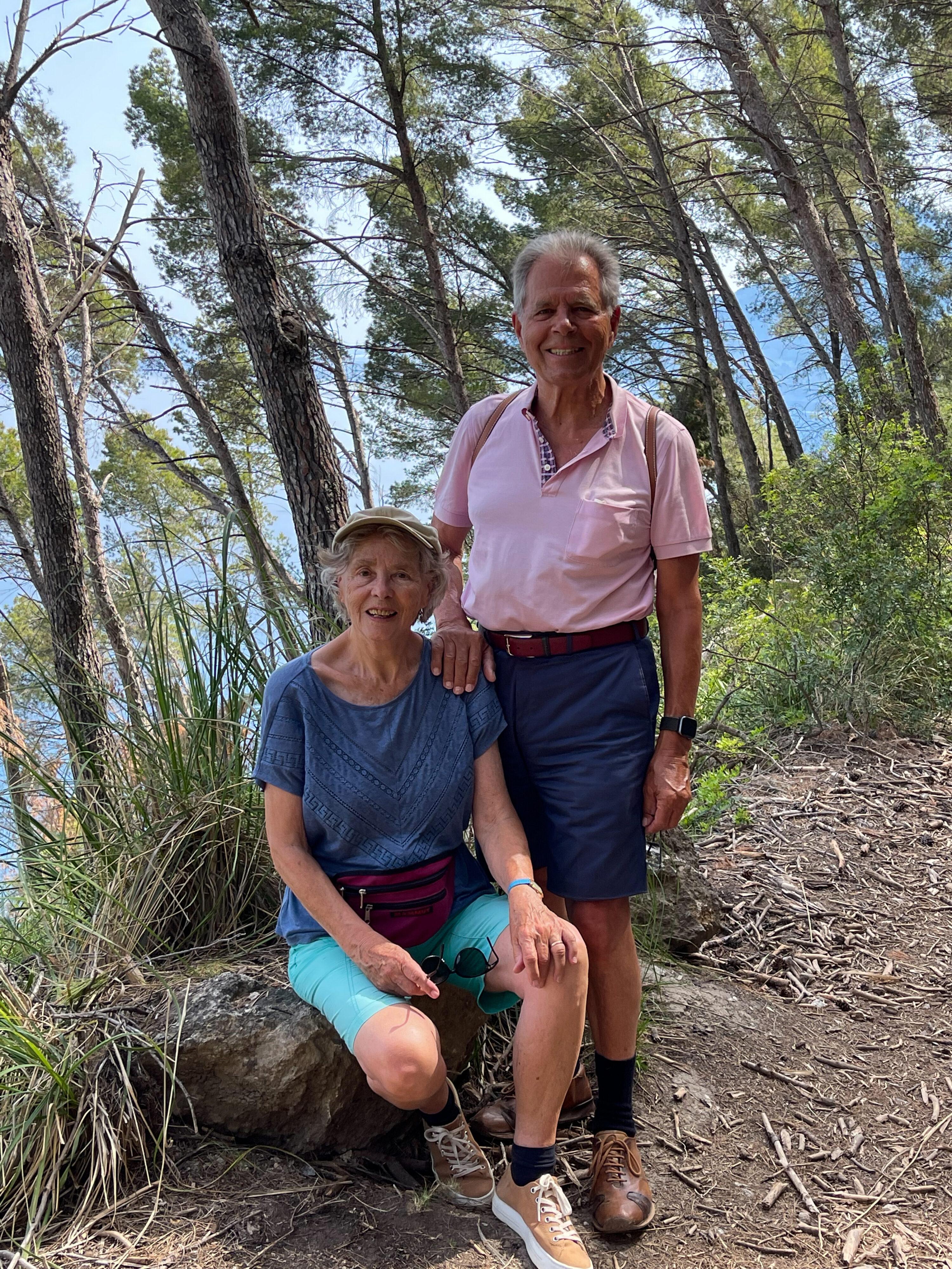 Autor mit Ehefrau Inga auf der Küstenwanderung bei Banyalbufar