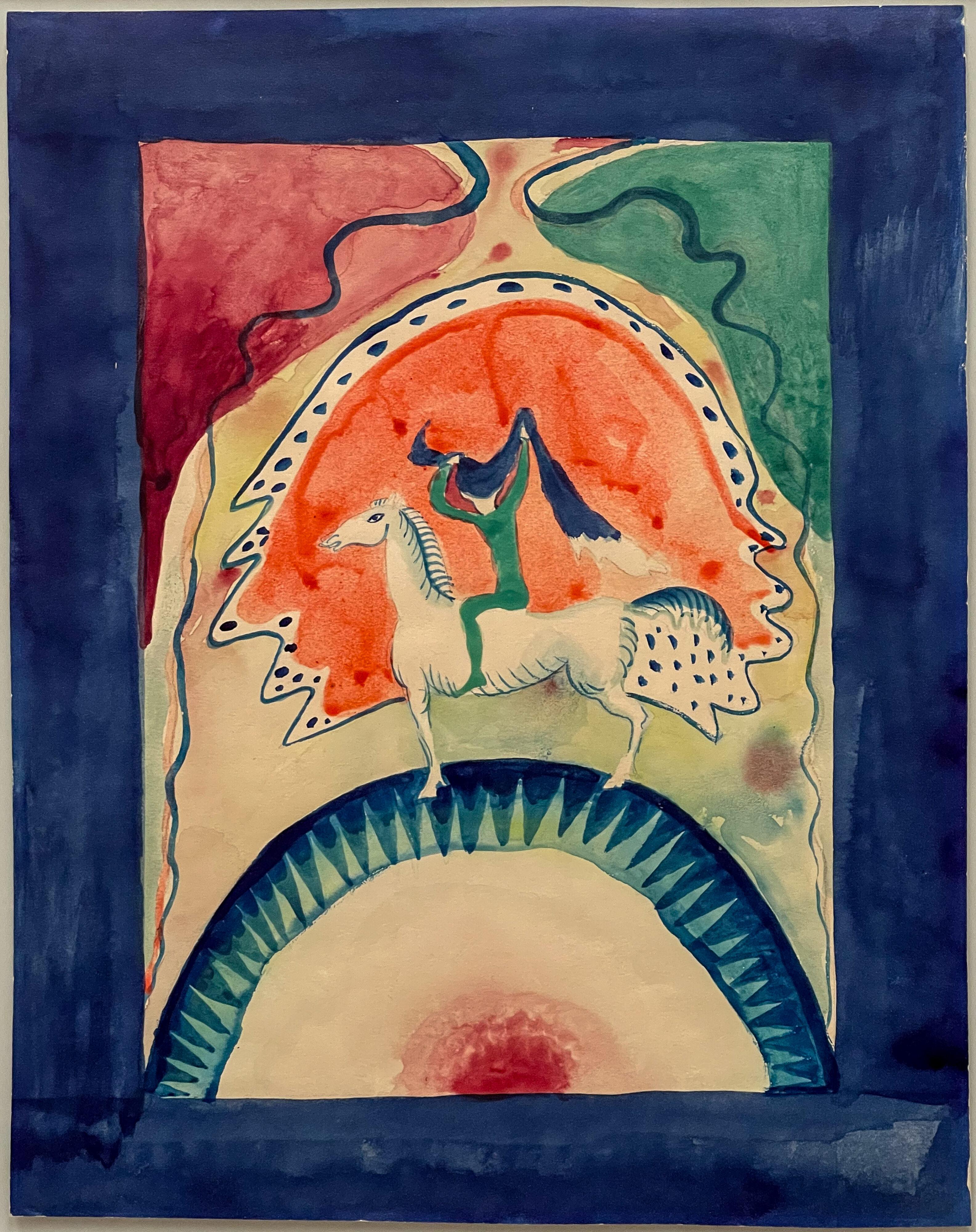 Blaues Land und Blauer Reiter, W. Kandinsky, Entwurf für den Almanach, 1911