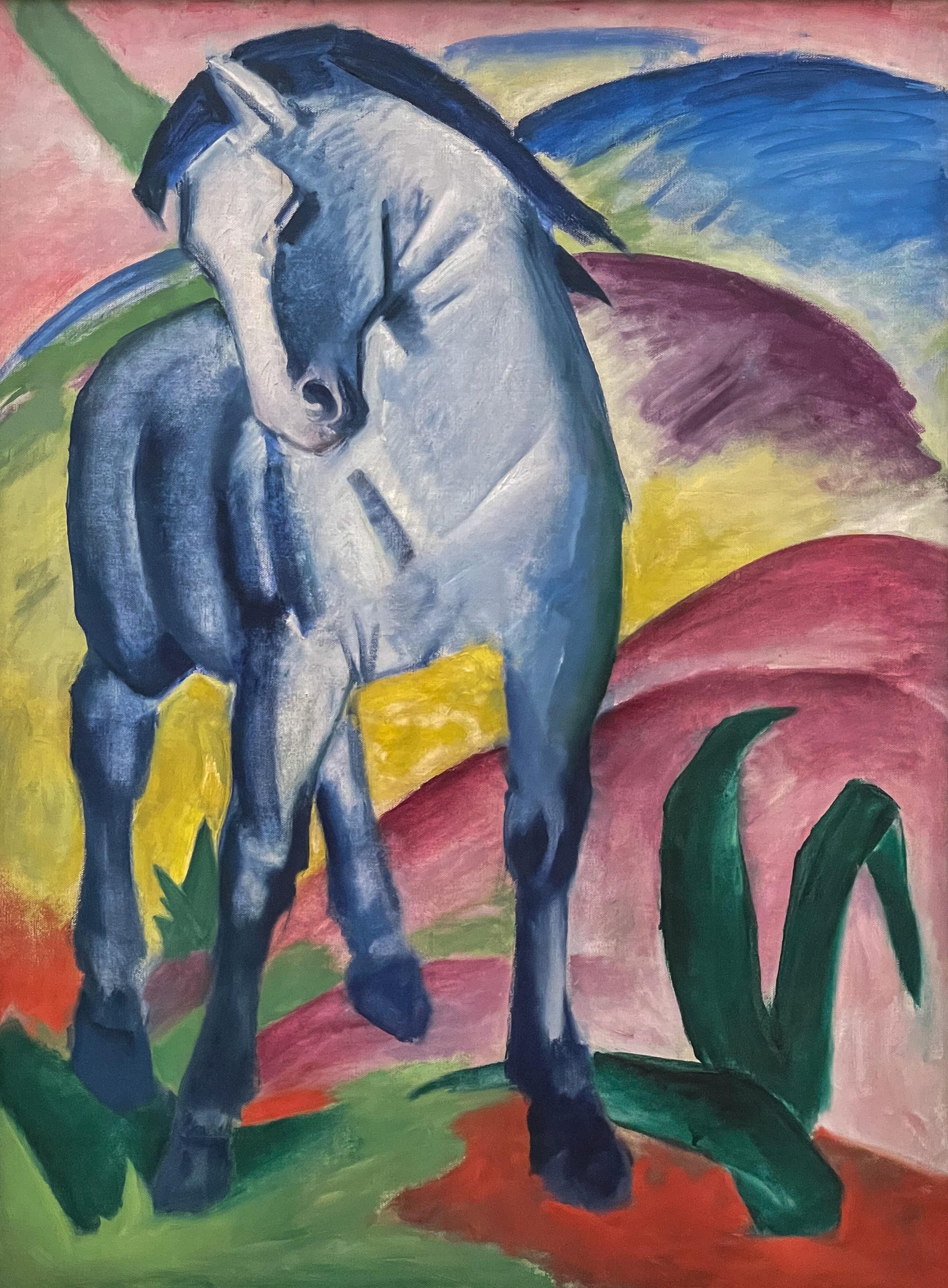 Blaues Land und Blauer Reiter, Franz Marc, Blaues Pferd I, München, Lenbachhaus