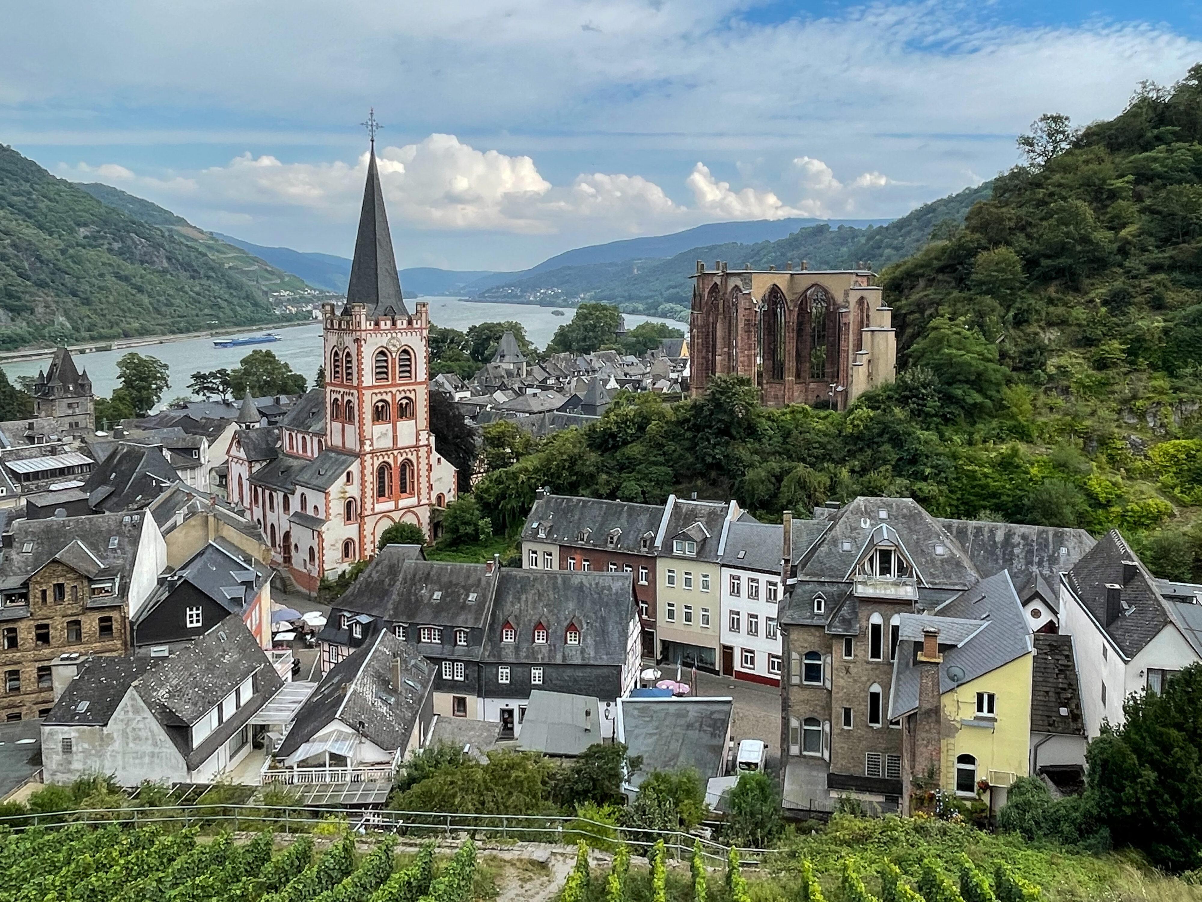 Bacharach – ein Schmuckstück der Rheinromantik: Blick vom Postenturm